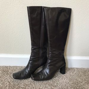 Dark Brown Genuine Leather Boots